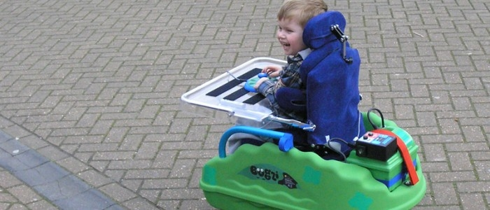 Bugzi powered wheelchair for children