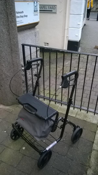 Walker donated to Falmouth Shopmobility